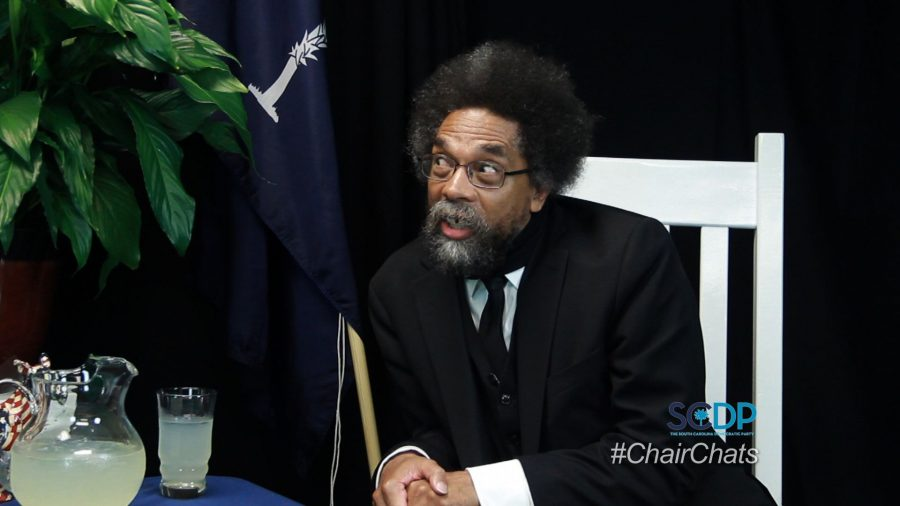 chair chats Dr. Cornell West